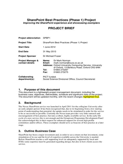project brief template word project brief template 4 free templates in pdf word