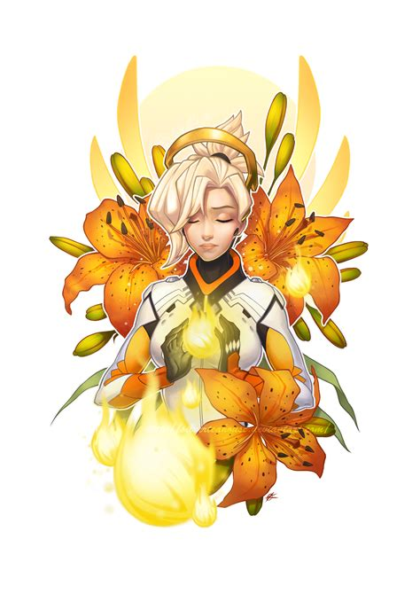 ow birds mercy by silverteahouse on deviantart