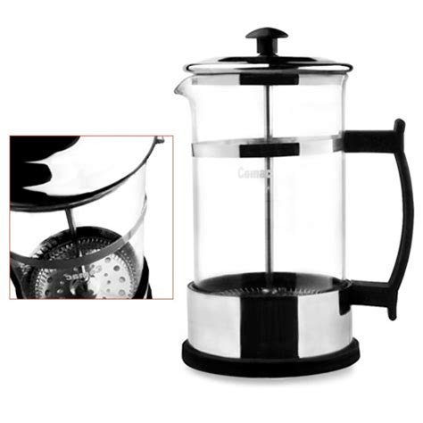 Hetai Press Plunger Coffee Maker 600 Ml For 6 Cups press coffee maker brewing plunger stainless steel glass pot comac 600ml ebay