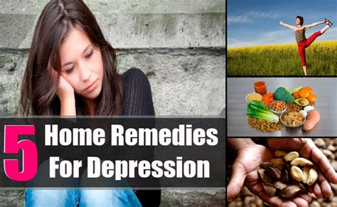 5 depression home remedies treatments cure for