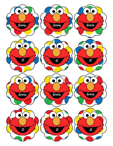 printable elmo cake template elmo printable cupcake toppers clipart best