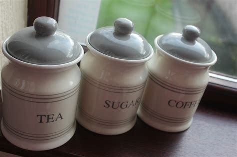 kitchen tea coffee sugar canisters retro ceramic striped tea coffee sugar jars canisters