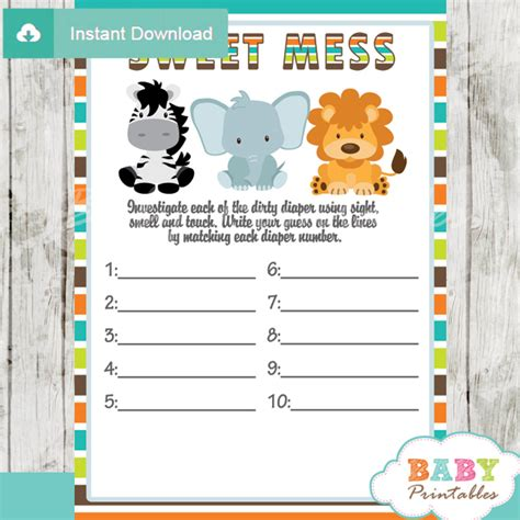 Pumpkin Themed Baby Shower Invitations - jungle theme baby shower games package d134 baby printables