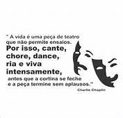 Frase Charlie Chaplin Adesivo Decorativo