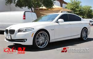 22 inch staggered dub c19 chrome wheels on bmw 5 series wheels