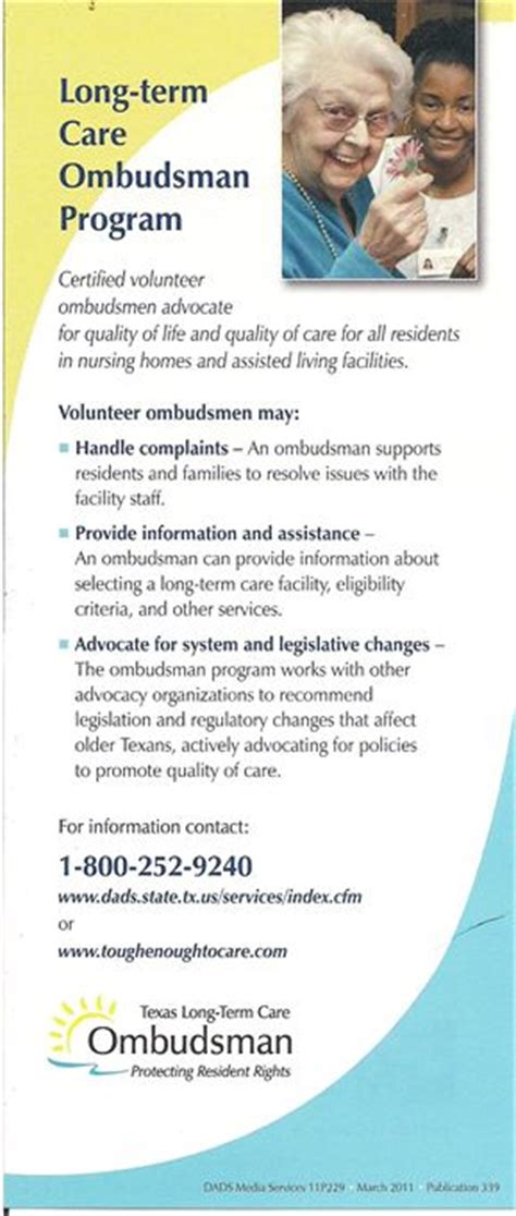 ombudsman service area agency on aging of central