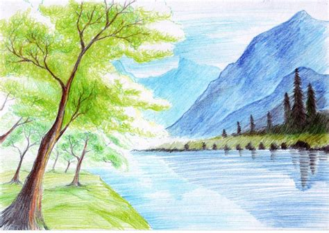 draw landscapes in colored pencil the ultimate step by step guide books color pencil drawings landscape beautiful craft