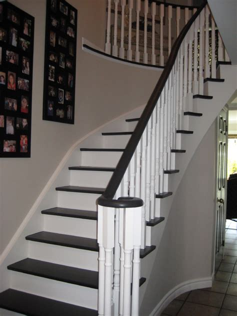 black  white stairs traditional hall toronto