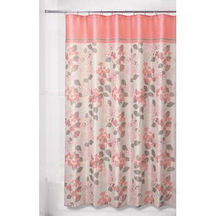 essential home curtains essential home floral shower curtain