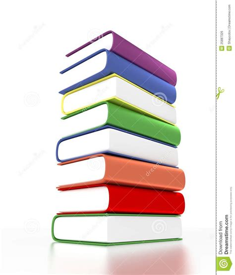 pictures on books 3d pile of books with different colors royalty free stock