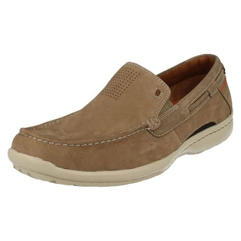 mens clarks unstructured slip on shoes un sand6 ebay