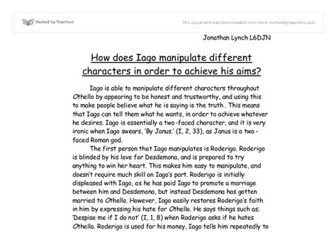 Iago Essay by Free Othello Essays Iago