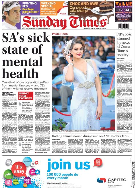 sunday news do a third of south africans really suffer from mental