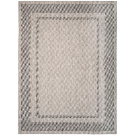 home depot indoor outdoor rug safavieh courtyard black beige 9 ft x 12 ft indoor outdoor area rug cy6914 266 9 the home depot