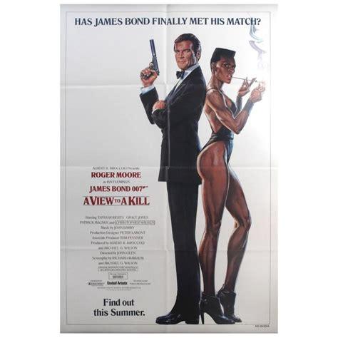 film semi james bond original vintage 007 james bond movie poster quot a view to a
