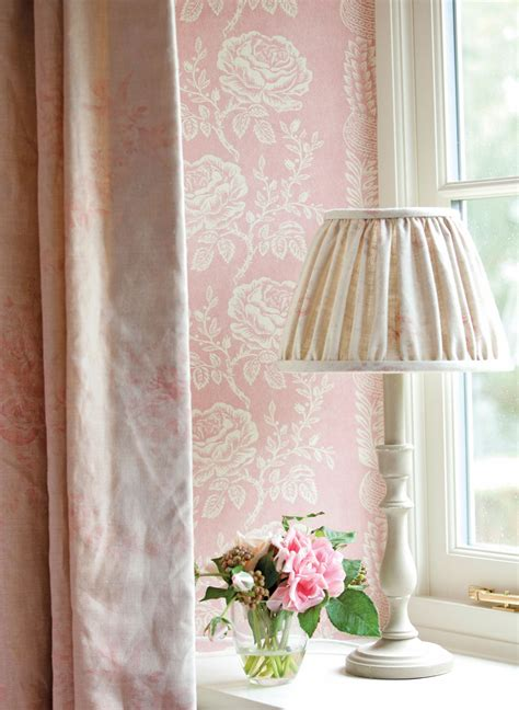 delilah curtains delilah wallpaper close up pink sophia curtains kitty