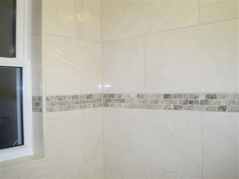Tiled tub surround shower