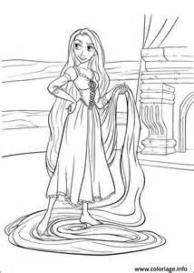 coloriage princesse raiponce disney jecolorie