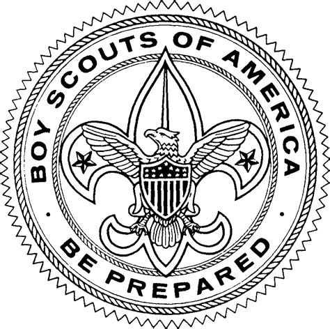 Scout Logo Outline by Black And White Large Size Downloadable Scout Clipart