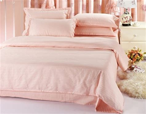 free shipping 100 cotton pale pink 4pcs cotton hotel