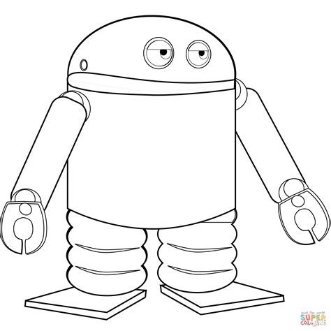 pages android android robot coloring page free printable coloring pages