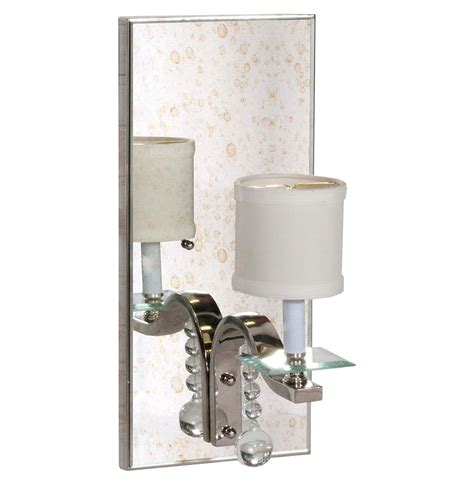 Mirrored Wall Sconce Bishop Regency Silver Mirrored Wall Sconce