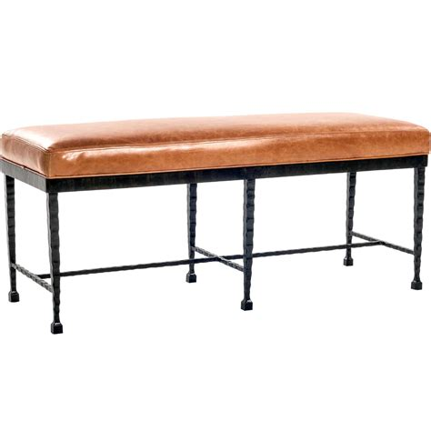 upholstered bench with wrought iron legs pictured here is the prague bench with wrought iron frame