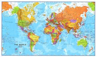 World Map Print by Pics Photos Large Printable World Map