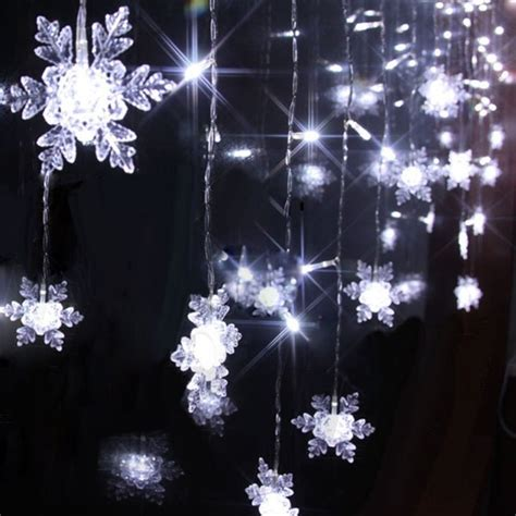 100 light snowflake aliexpress buy 4m 100 led 18p snowflake curtain string lights bar
