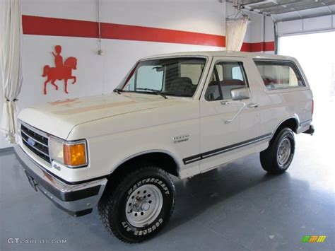white bronco car 1990 white ford bronco xlt 4x4 52724347 photo 8