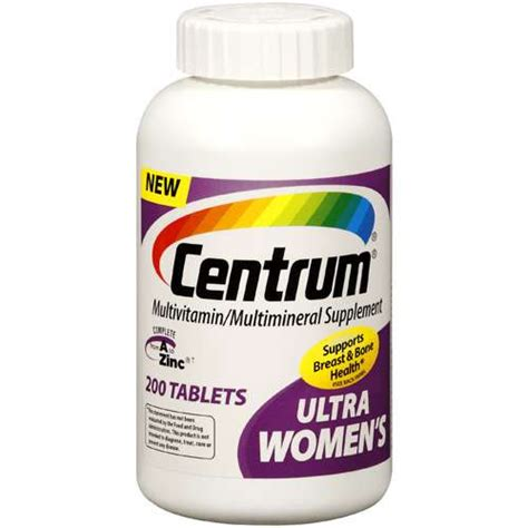 big w supplements centrum ultra multivitamin multimineral 200ct