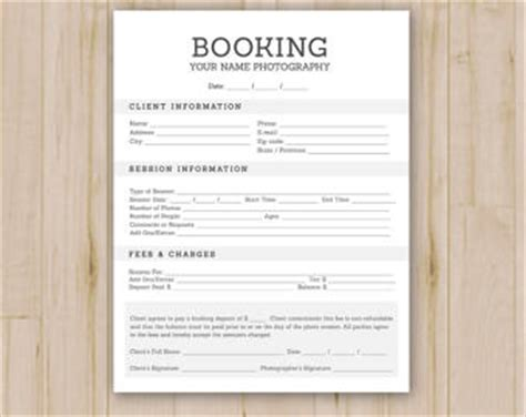 event booking form template word photography studio client booking form photoshop template