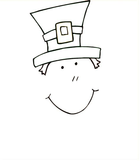 leprechaun hat template best photos of leprechaun cut out template st s