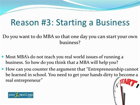 Reasons To Earn An Mba by Why Do Mba