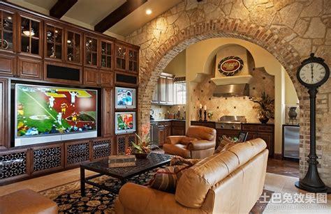 欧式电视背景墙装修效果图 土巴兔装修效果图