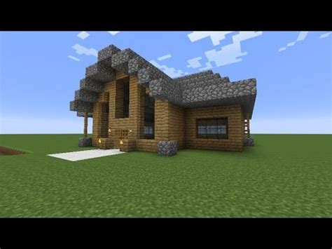 minecraft cobblestone house designs let s build a beautiful wooden house minecraft modern house design tutorial 5 youtube