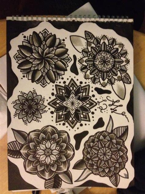 geometric tattoo flash geometric flower tattoo designs tattoos pinterest