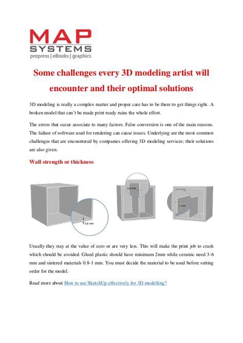 3d Modeling Challenges