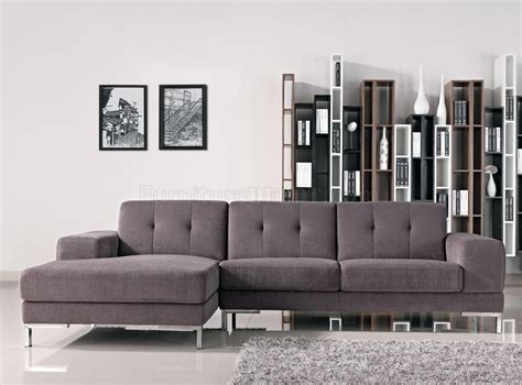 Modern Grey Sectional by Grey Fabric Modern L Shape Sectional Sofa W Metal Legs