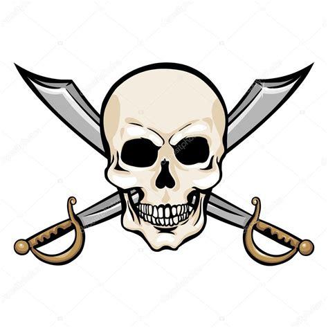 imagenes de calaveras de jake el pirata calavera pirata con cruzar espadas vector de stock