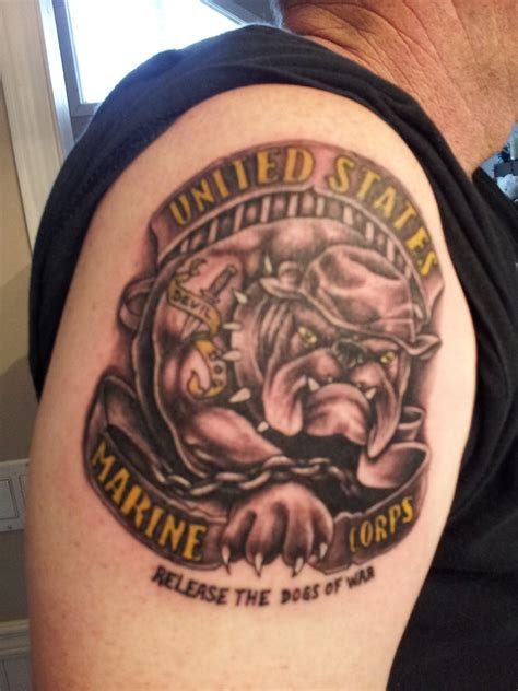 bulldog tattoos marine corps bulldog