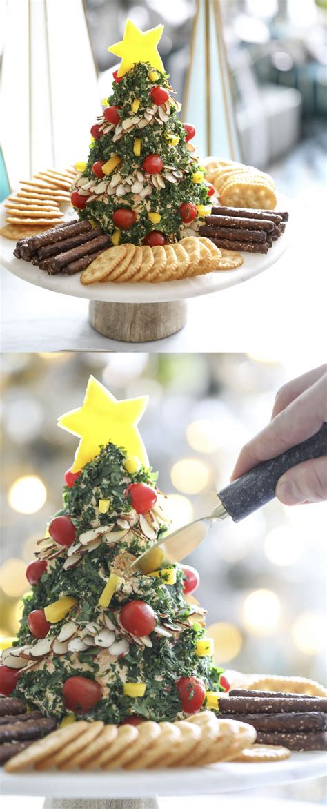 holiday appetizer recipe christmas tree cheese ball