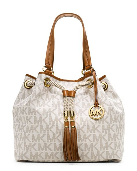 Purse Deal Michael Kors Mini Duffle by Michael Michael Kors Large Marina Gathered Tote In White