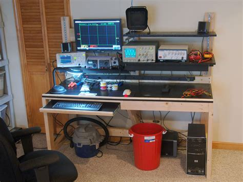 electronics work bench turning scrap wood into a really useful workbench make