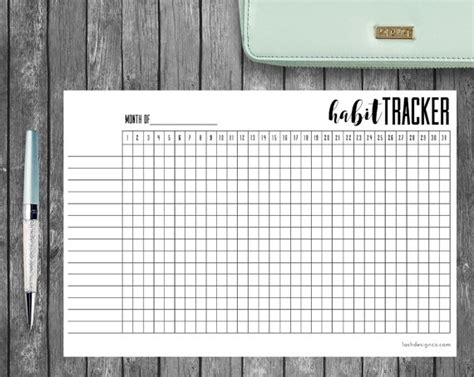 facility layout journal pdf a5 printable habit tracker for bullet journal filofax