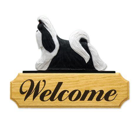 shih tzu signs shih tzu welcome sign