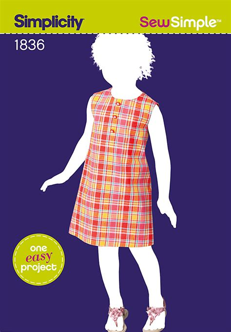 simple pattern sewing simplicity 1836 sew simple child s dress
