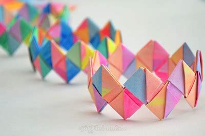 Craft Things To Make With Paper - folded paper bracelets diy things to make and do crafts