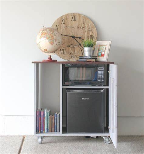 storage cabinet for mini fridge and microwave diy mini refrigerator storage cabinet free plans
