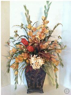 2 orchids pheasant feathers artificial silk flower
